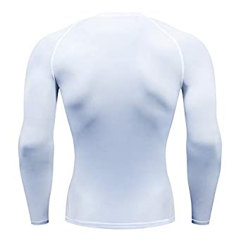 Holure Mens Base Layers Tops Long Sleeve Gym Running Top Workout T Shirts for Men