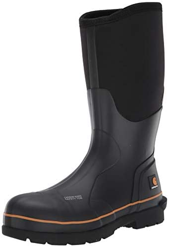 """Carhartt Men's 15"""" Waterproof Rubber Pull-on Carbon Nano Safety Toe Cmv1451 Knee High Boot"""