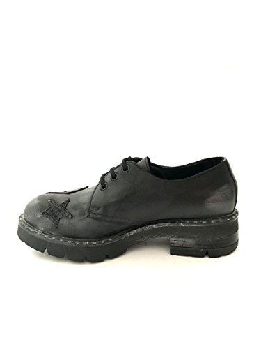 Stella Pelle Vintage In Nero Shoes Patch Francesine Mainapps Borchie Zeta wxp6qOXC