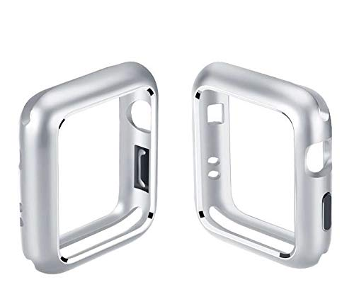 Series 4(2018)-44mm Super Silm PC Hard Case 2 in 1 Two-Tone Protective Bumper Apple Watch Case 44mm Series 4 Sport Edition (Silver, Series 4 ()