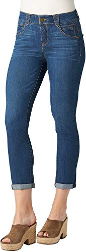 (Democracy Womens Ab-solution Denim Cuff Capris 2 Medium denim blue)