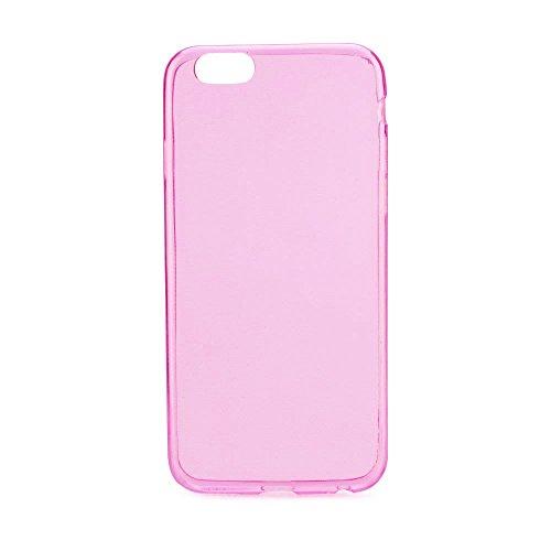 handy-point Ultra Dünn 0,3 mm Gummihülle Gummi Silikonhülle Silikon Schutzhülle Hülle für iPhone SE, 5, 5S Durchsichtig Transparent Pink