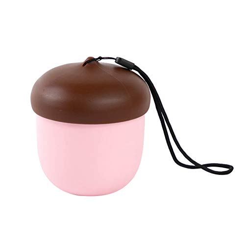 YiiLshaoqx 300ml Portable Cute Pine Cone Shape Water Cup Bottle Tea Coffee Mug with Strap - Pink