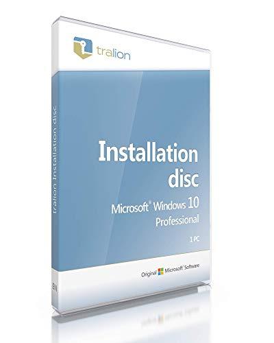 Windows 10 Professional 64bit, Tralion DVD, incl. Licentie documenten, audit-proof, Duits – incl. Key & Download…