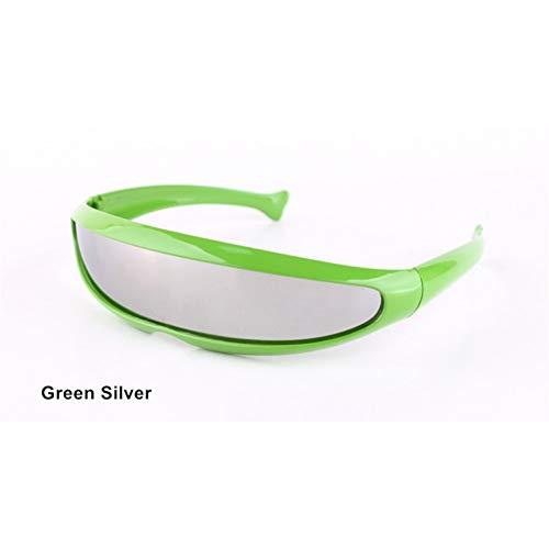 Lunettes Dames Robot Green De nbsp;soleil Protection Soleil Lunettes Conduite Ysfu Laser Silver nbsp;de q18BWSB6