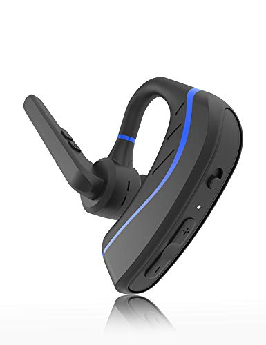 [New] Bluetooth Headset,Aolite Wireless Bluetooth Earpiece Hands-Free in-Ear Earbuds Headphones with Stereo Noise Canceling Mic for Driving/Business/Office, Compatible with iPhone and Android(Blue