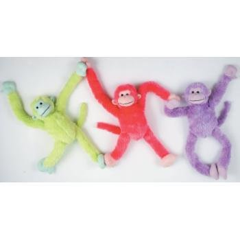 Bulk Buys 24 in. 3 Assorted Color Pull Arm Monkeys - Case of -