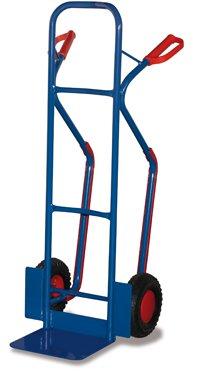 Stahlrohr Sackkarre 250 kg, Vollgummibereifung mit Gleitkufen, MADE by VARIOFIT, Stapelkarre, Transportkarre