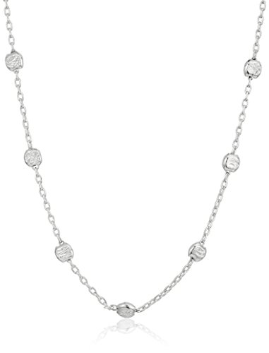Sterling Italian Diamond Station Necklace