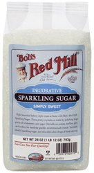 Use Bob's Red Mill Decorative Sparkling Sugar on Easy & Healthy Raspberry Yogurt Muffins