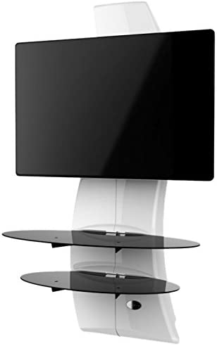 Ollo Meliconi Ghost Design 2000 TV Wall Fixture for 32 to 63 screens up to 154lbs, White