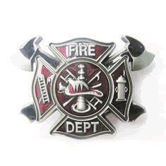 Firefighter Belt Buckle (Fire Department Fireman Firefighter Belt Buckle)