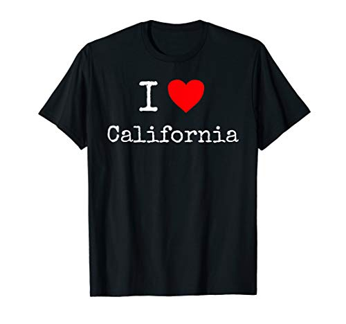 (I Love California T-Shirt)