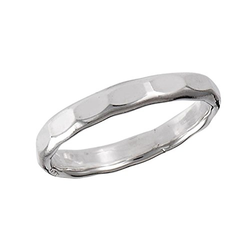 Sterling Silver Hammered Toe Ring Size ()