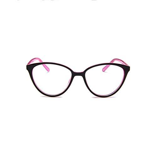 Beautyolove Blue Light Blocking Computer Glasses for Anti Eyestrain Anti Glare Lens Lightweight Frame Eyeglasses Leopard Frame, Men/Women (Pink)