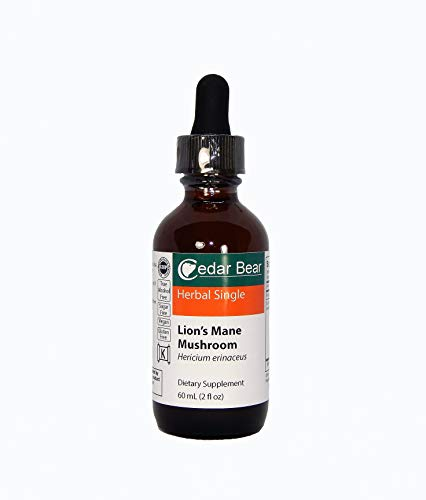 Cedar Bear Lion's Mane Mushroom (Hericium Erinaceus) Liquid Herbal Supplement Supports Deep Immune Health, Brain and Nervous System Function, Digestive Health, and Tissues Throughout the Body 2 Fl Oz ()