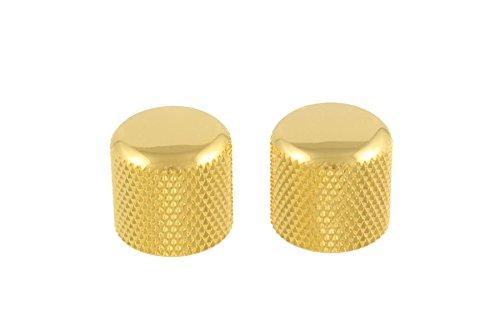 2 Gold Dome Knobs Push-On fits Split Shaft Pots Allparts MK-3300-002