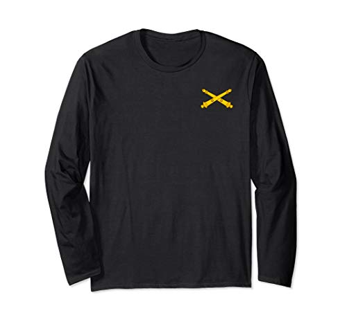 Army Field Artillery Branch Military Veteran Morale Long Sleeve T-Shirt ()