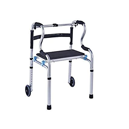 Surprising Amazon Com Egclj Compact Folding Walker Elderly Folding Ibusinesslaw Wood Chair Design Ideas Ibusinesslaworg