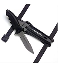 Atomic Aquatics has created a titanium dive knife that is durable, easy to handle, and streamline. The comfortable handle can be removed for thorough cleaning and promotes easy wielding if the knife is ever needed. The 4-inch curved blade is ...