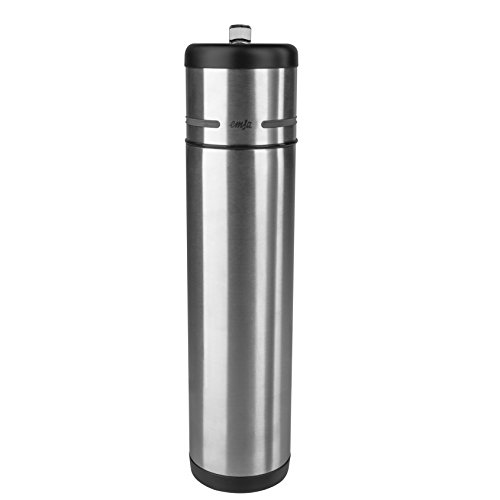 Emsa ''Mobility'' 23.7 oz Vacuum Flask, Black/Anthracite by Emsa
