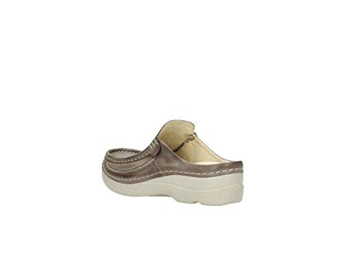 Pelle Sandali Roll Comfort Slide Tortora Wolky 30150 In Color HqAHvYP