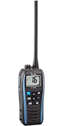 Icom 2018 M25 Waterproof Handheld VHF Radio Blue VHF0160