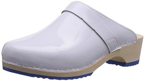 Gevavi6006 BIGHORN - Zuecos Mujer Blanco - Weiß (weiss(wit Lak) 81)