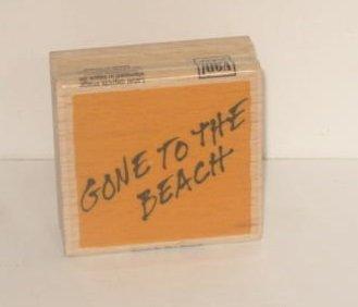 VAP chatarra sello con base de madera - ido a la Playa: Amazon.es ...