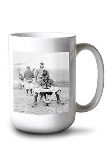 - Lantern Press Jack Onslow and Ossie Vitt, Detroit Tigers, Baseball Photo (15oz White Ceramic Mug)