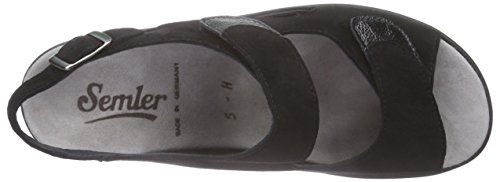 Dunja 001 Sandals Black Black Semler Women's BnZB1