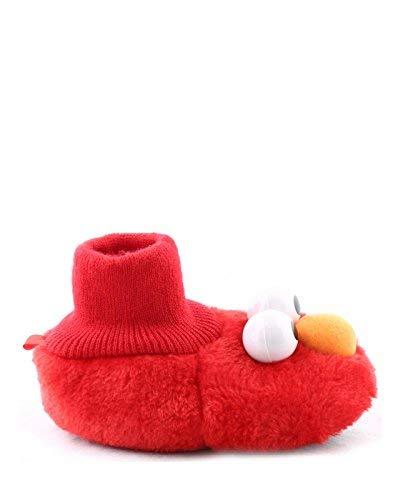 Sesame Street Baby ELMO Puppet Slipper, Red 3/4 Child US Toddler