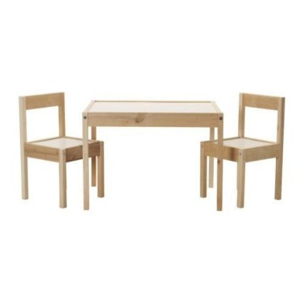 IKEA Children's Kids Table & 2 Chairs Set Furniture - For Older Lego Table Kids