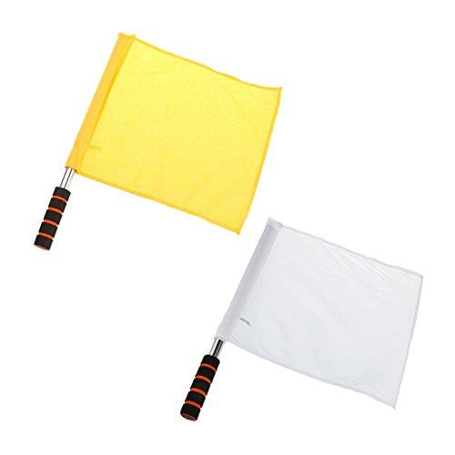 Homyl 2 Pedazos de Bandera para Arbitro Suministros de Entrenamiento para Deportista Multiusos