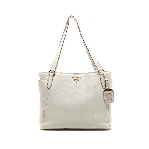 ed81825ee06f Prada Women s Vit. Daino White Shopping Tote 1BG970