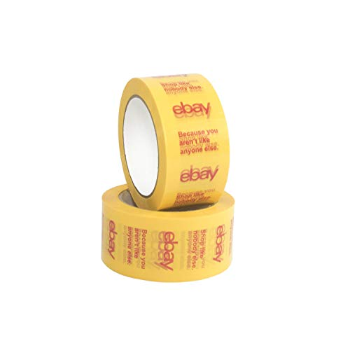 Yellow Official eBay Branded BOPP Packaging Tape Shipping Supplies (2 Pack)