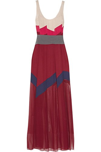 BCBGMAXAZRIA BCBG Maxazria Runway Bon Voyage Color Block Silk Maxi Dress ()