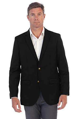 Coat 38 Short - Gioberti Mens Formal Black Blazer Jacket, Size 38 Short