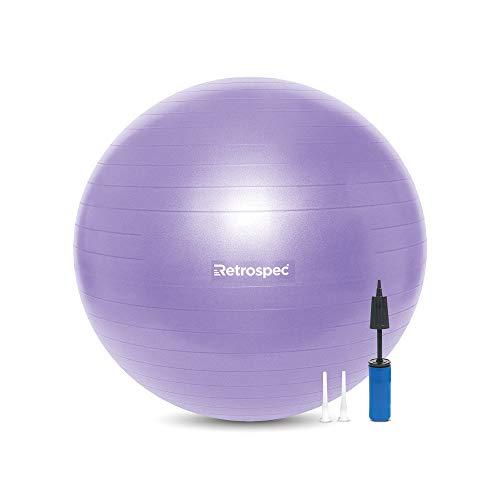 Pelota de ejercicio LUNA 65cm - c/inflador-violeta