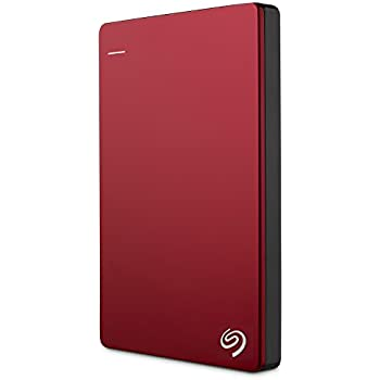 Seagate Backup Plus Slim 1TB Portable External Hard Drive USB 3.0, Red + 2mo Adobe CC Photography (STDR1000103)