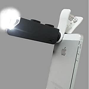 Tqie Universal Clip Microscope 60X-100X Zoom Power Camera Lens for iPhone/iPad and Other Cellphone , Black