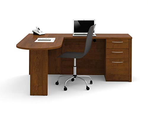 Pedestal Embassy - Bestar L-Shaped Desk with Pedestal - Embassy