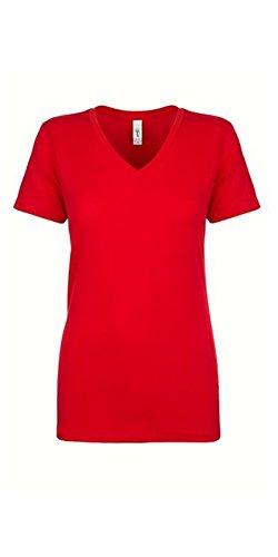 Coast V-neck Jersey - Next Level Women's Lightweight V-Neck Jersey T-Shirt - 1540, Red, XX-Large