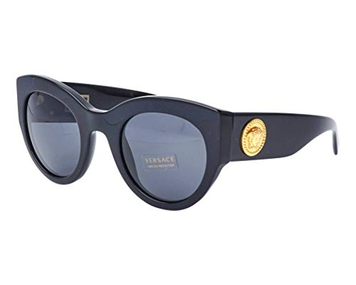 Versace Women's Bold Frame Sunglasses, Black/Grey, One ()