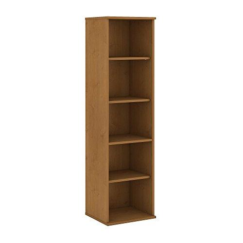 Piece Maple Wood Finish 3 (Bush Business Furniture 66H 5 Shelf Narrow Bookcase)