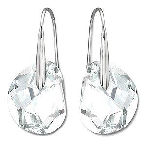 1a7800fd989a8 Amazon.com: Swarovski Crystal Galet Clear Earrings: Dangle Earrings ...