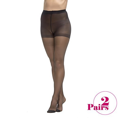 ab5ef892ee8 LadyDorset Thin Class Sheer Pantyhose - Soft and Elegant - Hosiery for Women  - 2 Pairs at Amazon Women s Clothing store