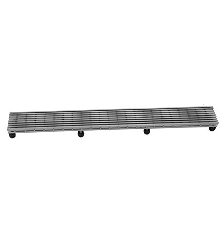 Jaclo 6224-24-PSS Bar Channel Long Shower Drain Grate Polished Stainless Steel 24