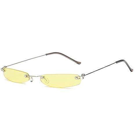 e8bad73673 Kasuki Super Small Size Rimless Rectangle Sunglasses Women Brand Designer  2018 Fashion Men Narrow Glasses Oculos