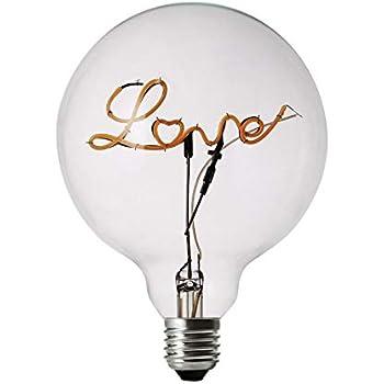 DarkSteve - Love LED Light Bulb - Edison Light Bulb, Modern Decorative Light, G125